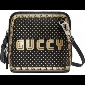 Gucci #511189 Black/Gold Moon Steller Crossbody